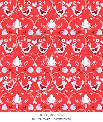Valentine's day seamless pattern