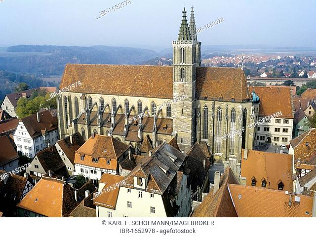 Church of St. Jakob, Rothenburg ob der Tauber, Franconia, Bavaria, Germany, Europe