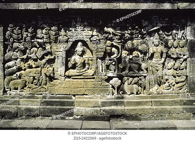 3rd Gallery north 71 whole. Borobudur, Indonesia