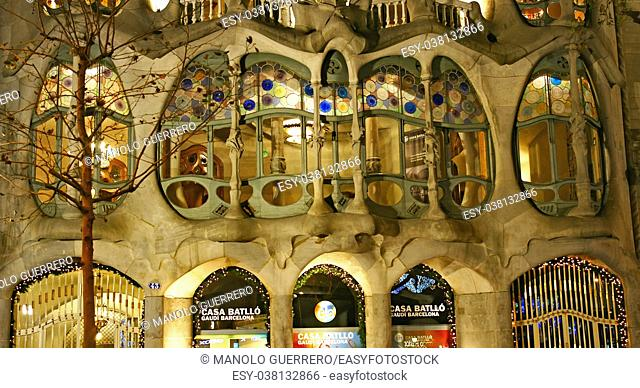 Casa Batlló by Gaudí, Barcelona, Catalunya, Spain