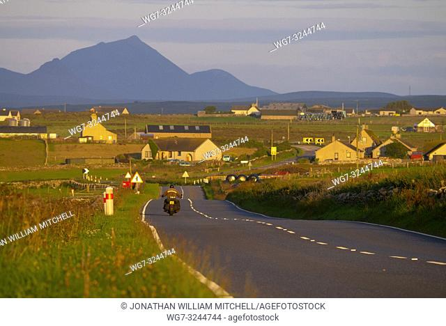OCCUMSTER, SCOTLAND, UK - August 13, 2017: The A99 road at Occumster Caithness Scotland UK. This road is part of the North Coast 500 tourism route