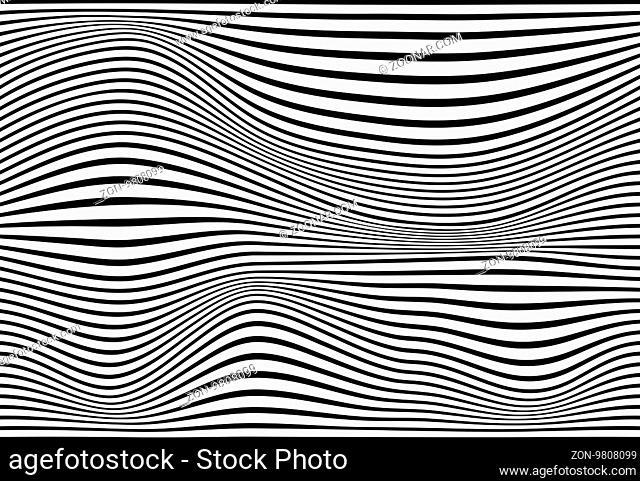 Striped abstract background. black and white zebra print. illustration