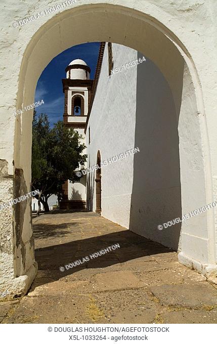 ANTIGUA FUERTEVENTURA Iglesia de Nuestra Senora de Antigua church bell tower and arch