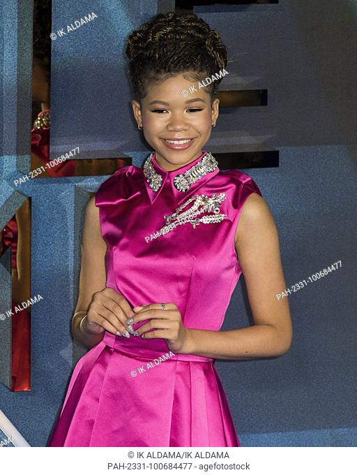 Storm Reid attends A WRINKLE IN TIME European Premiere - London, UK (13/03/2018) | usage worldwide. - London/United Kingdom of Great Britain and Northern...