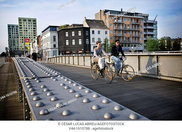 Nassau Bridge, Willemdock. Antwerp. Flanders, Belgium