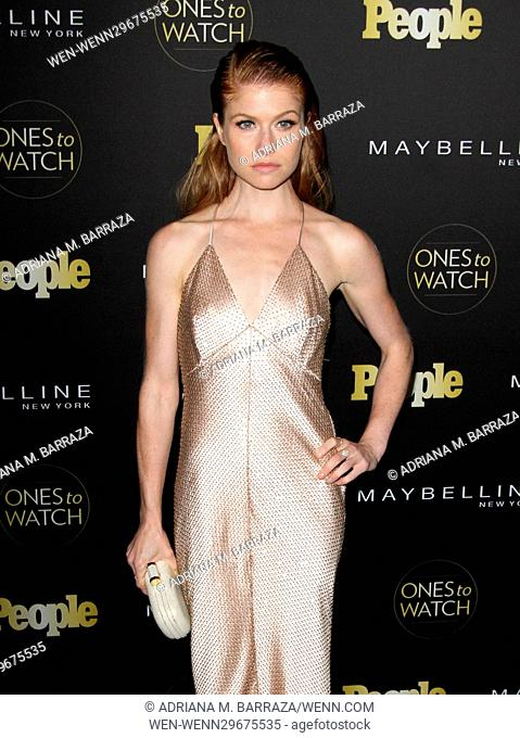 People's One's To Watch Event Celebrating Hollywood's Rising & Brightest Starts held at E.P. & L.P. in Los Angeles Featuring: Genevieve Angelson Where: Los...