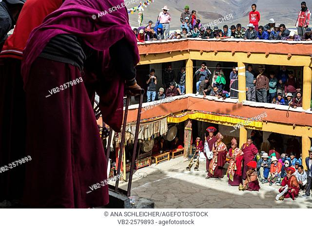 Masks dance. Nomad summer festival in Tso Moriri lake, Ladakh (India)