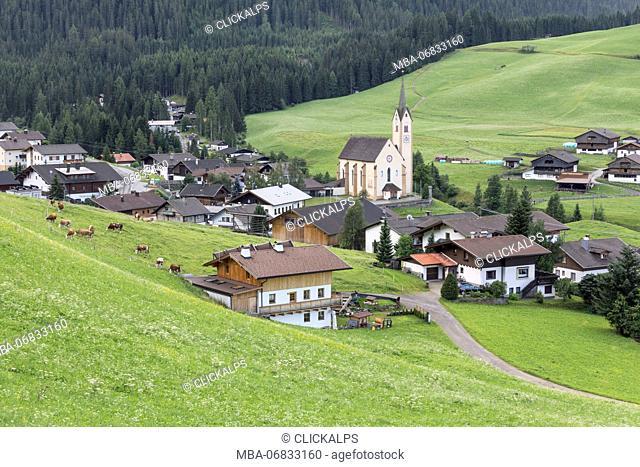 The village of Kartisch in the Gailtal, Lienz district, Tyrol, Austria