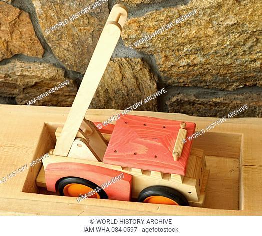 Traditional Scandinavian wooden children's toys. Dated 21st Century
