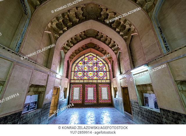 Interior of one of the halls in Castle of Karim Khan citadel (Arg-e Karim Khan) build during Zand dynasty in Shiraz city, Fars Province in Iran