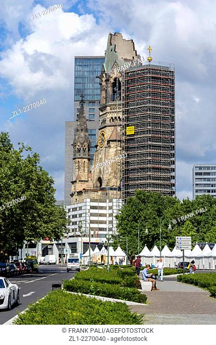 Kaiser Wilhelm Memorial Church is one of Berlin's most famous landmarks. The damaged tower is a symbol of Berlin's resolve to rebuild the city after the war