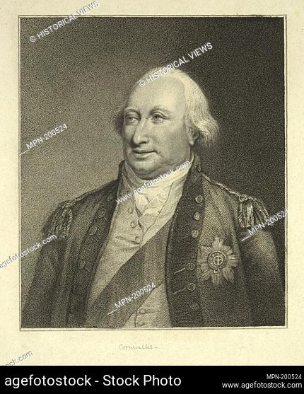 Charles Cornwallis, Marquis. Bartolozzi, Francesco (1727-1815) (Engraver) Devis, Arthur William (1762-1822) (Artist). Emmet Collection of Manuscripts Etc