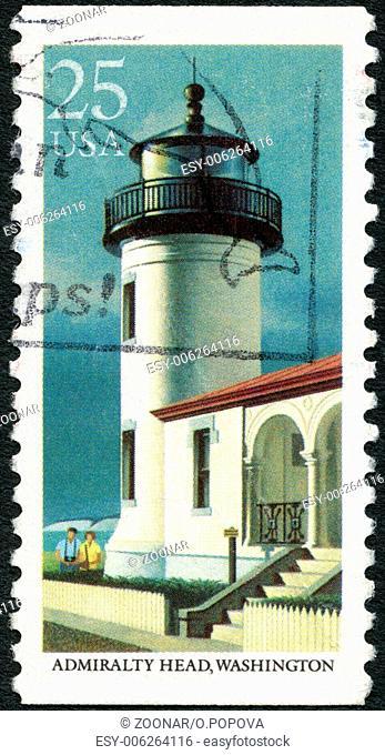 USA - 1990: shows Admiralty Head, Washington, series Lighthouses