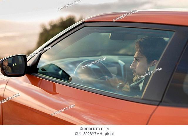 Man behind wheel