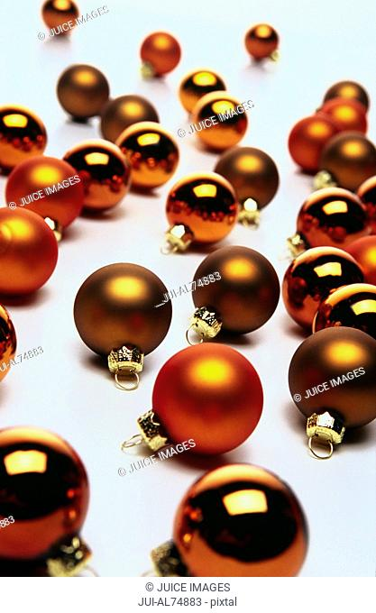 Detail view of Christmas ornaments