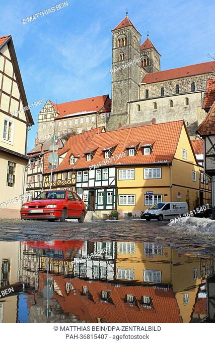 A view of the collegial church and the town palace of Quedlinburg, Germany, 28 January 2013. Both, the church and the town palace and the old town of...