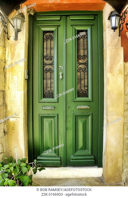 Colors and details of Chania city in Crete