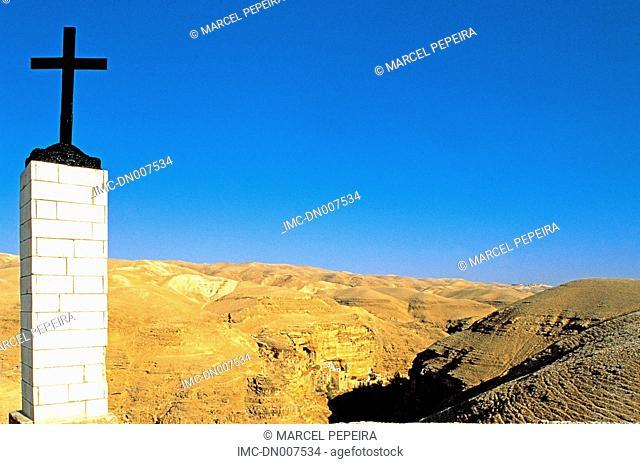 Israel, Judean desert, Chobiza, Saint George monastery