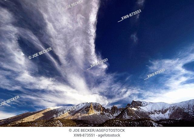 Mount Wheeler and Jeff Davis Peak in Great Basin National Park, Neveda
