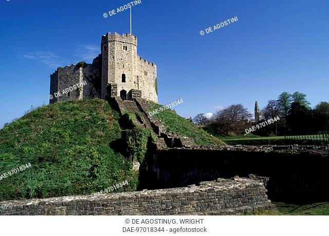 Ramparts on Cardiff Castle, Wales, United Kingdom