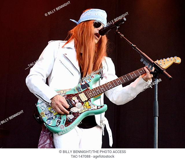 Rivers Cuomo of Weezer performs onstage during Arroyo Seco Weekend on June 25, 2017 at the Brookside Golf Course in Pasadena, California