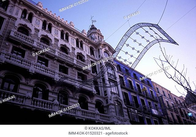 Calle Mayor, buildings, Madrid, Spain, Europe