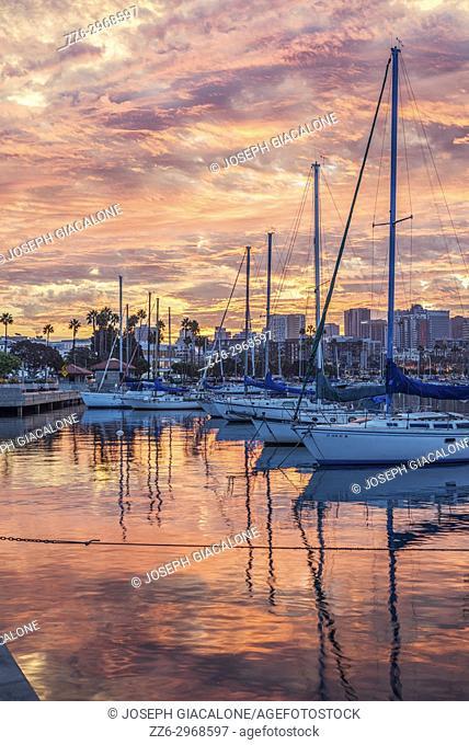 San Diego Harbor sunrise. San Diego, California