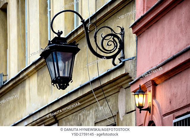 Architectural detail, Old Town of Warsaw, Poland, Europe