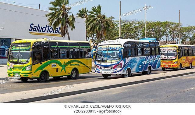 Cartagena, Colombia. Local Bus Transport