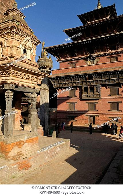 temple and palace at Durbar Square of Patan, Lalitpur, Kathmandu, UNESCO World Heritage Site, Nepal, Asia