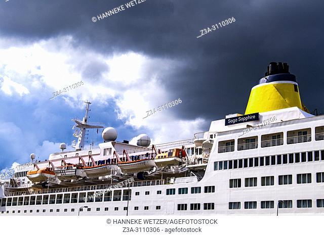 Detail of a cruiseship in Riga, Latvia, Baltic States