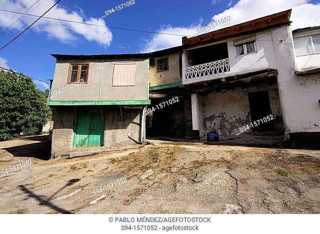 Rural houses of Valencia do Sil, Orense, Spain