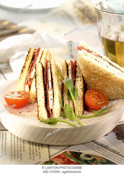 Spanish ham and Manchego toasted sandwich