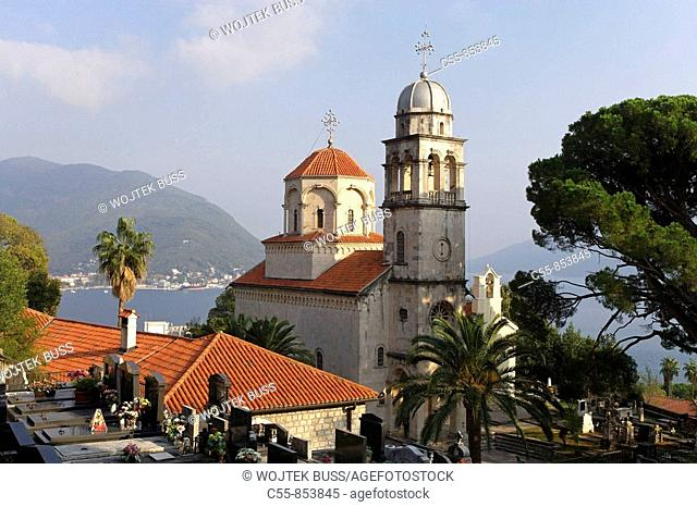 Great Uspenskaya church, Great church of the Assumption , Kotor Bay, Savina Monastery, near Herceg-Novi, Montenegro