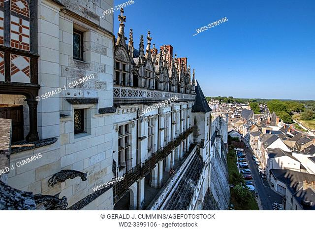France The Royal Residence of Amboise : 2018, An historic monument in the Loire Valley and resting place of the artist Leonard de Vinci and is now a UNESCO...