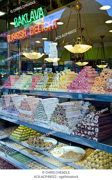 Turkish Delight in shop, Istanbul, Turkey