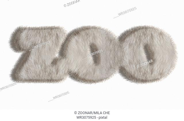 Natural animal style fur word - zoo
