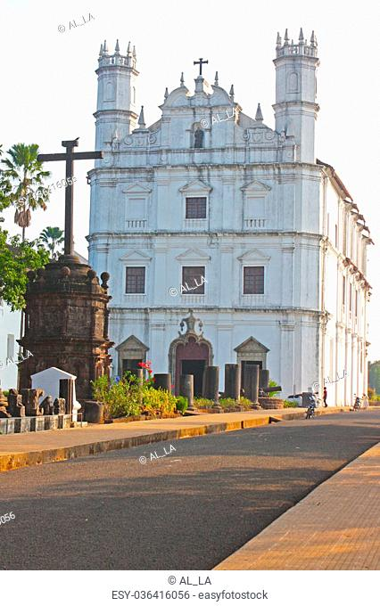 Convent, Church of St Francis of Assiisi and Se Cathedral in Old Goa , Goa India