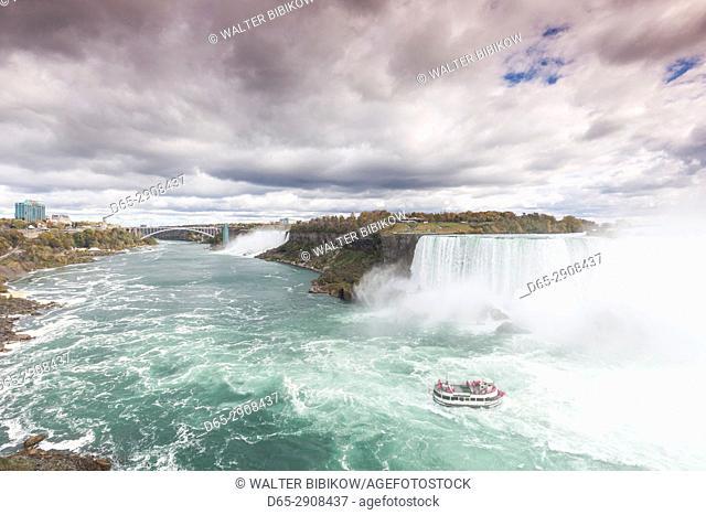 Canada, Ontario, Niagara Falls, Bridal Veil Falls and Horseshoe Falls