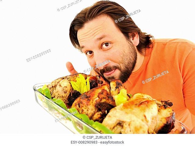 Prepared chicken, yummy!