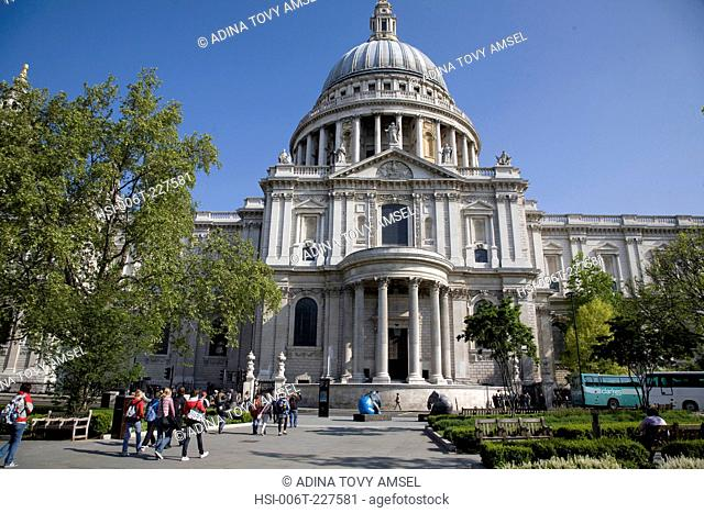 Saint Paul's Cathedral. City of London. England
