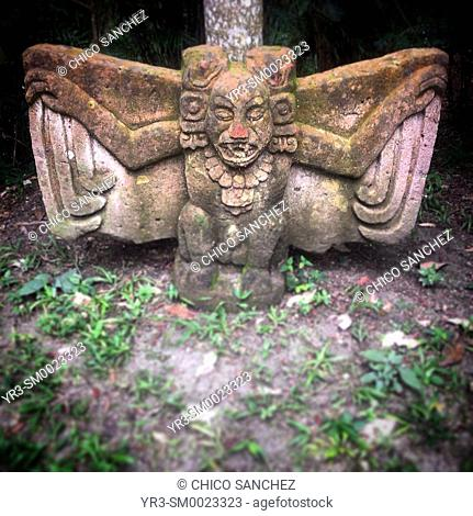 Kamatzotz, messenger from the Mayan Xibalba or Underworld in the Reserva Natural privada Nitun, San Andres, Peten, Guatemala
