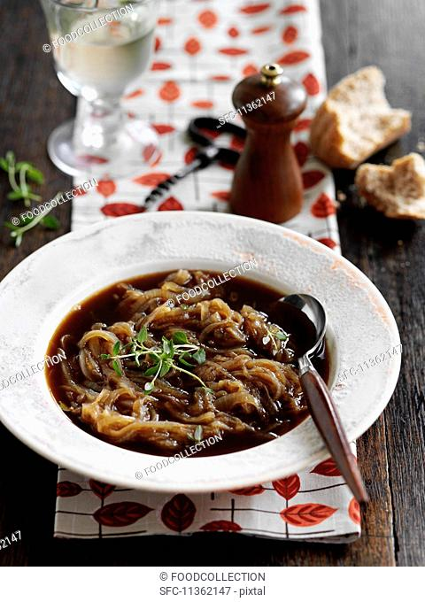 Traditional French onion soup