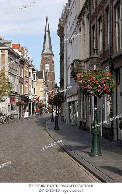 Shopping street in Maastricht, Netherlands