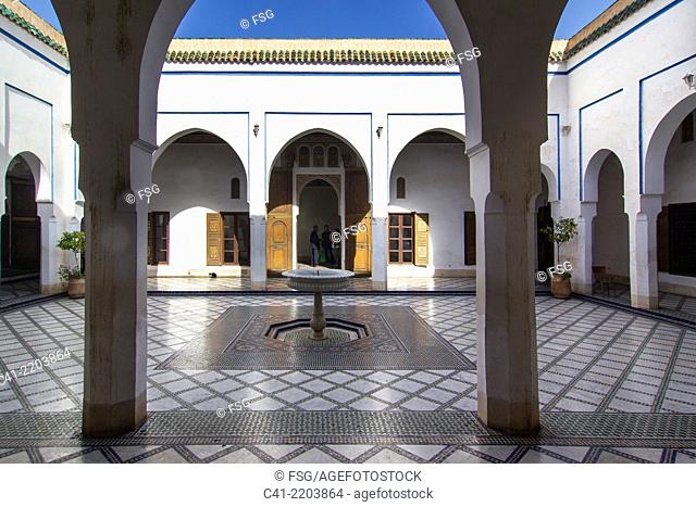 Bahia Palace. Marrakesh. Morocco