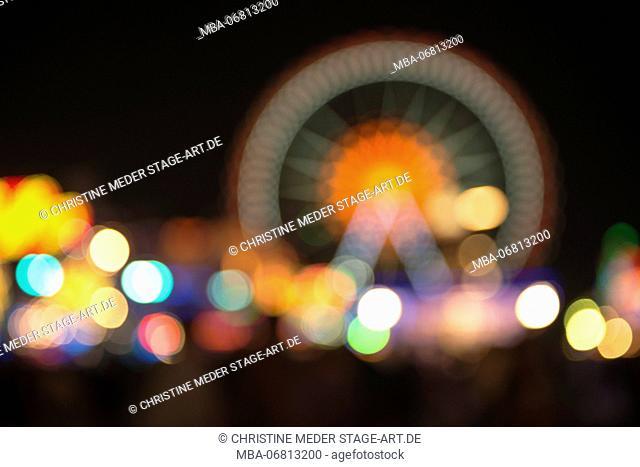 Oktoberfest, 'Wiesn' by night, lights