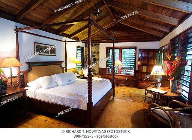 Bedroom at Pico Bonito Lodge, Honduras, Central America