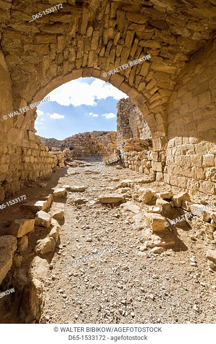 Jordan, Kings HIghway, Shobak, ruins of Shobak Castle, built in 1115 AD by Crusader King Baldwin I