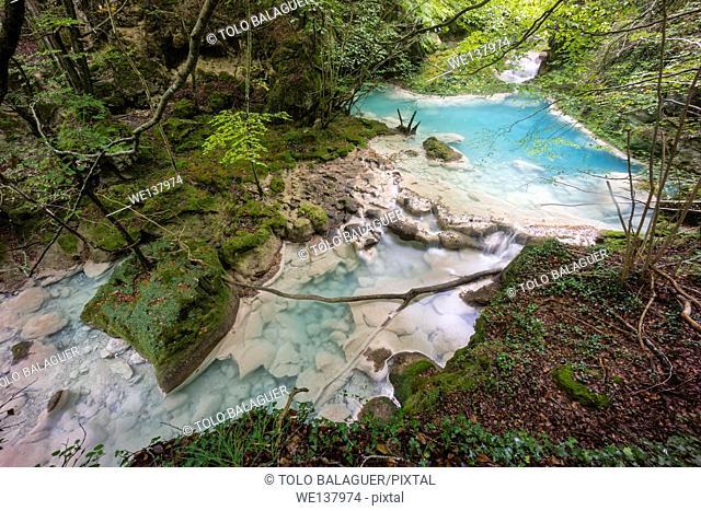 Source of Urederra river, Urbasa-Andia natural park, Navarre, Spain