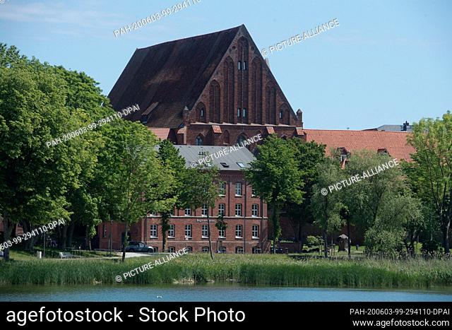 03 June 2020, Mecklenburg-Western Pomerania, Stralsund: View of the former Katharinenkloster, which today houses the exhibitions of the Meeresmuseum Stralsund